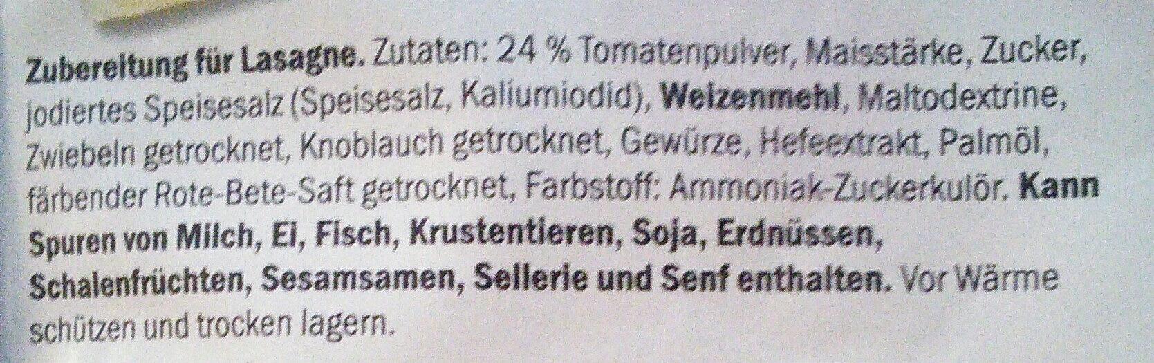 Fix für Lasagne - Zutaten - de