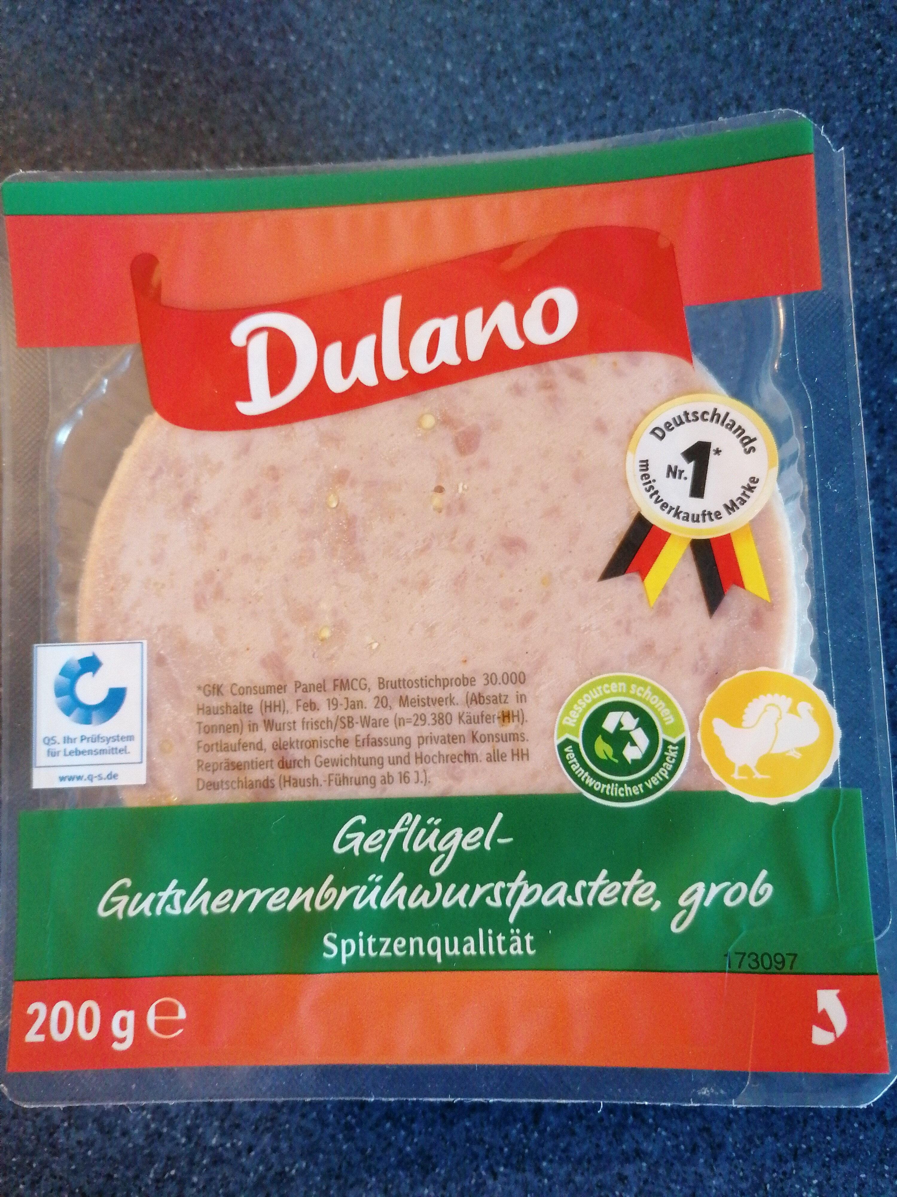 Geflügel-Gutsherrenbrühwurstpastete, grob - Produit - de