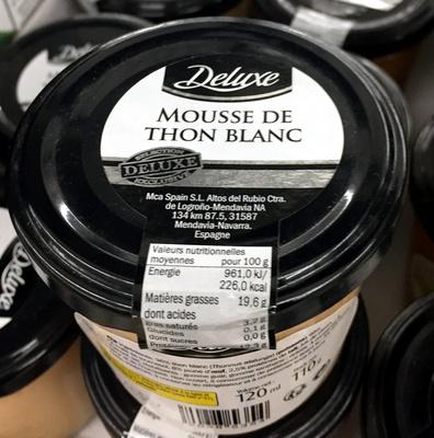 Mousse de thon blanc - Produit