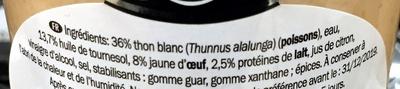 Mousse de thon blanc - Ingrédients