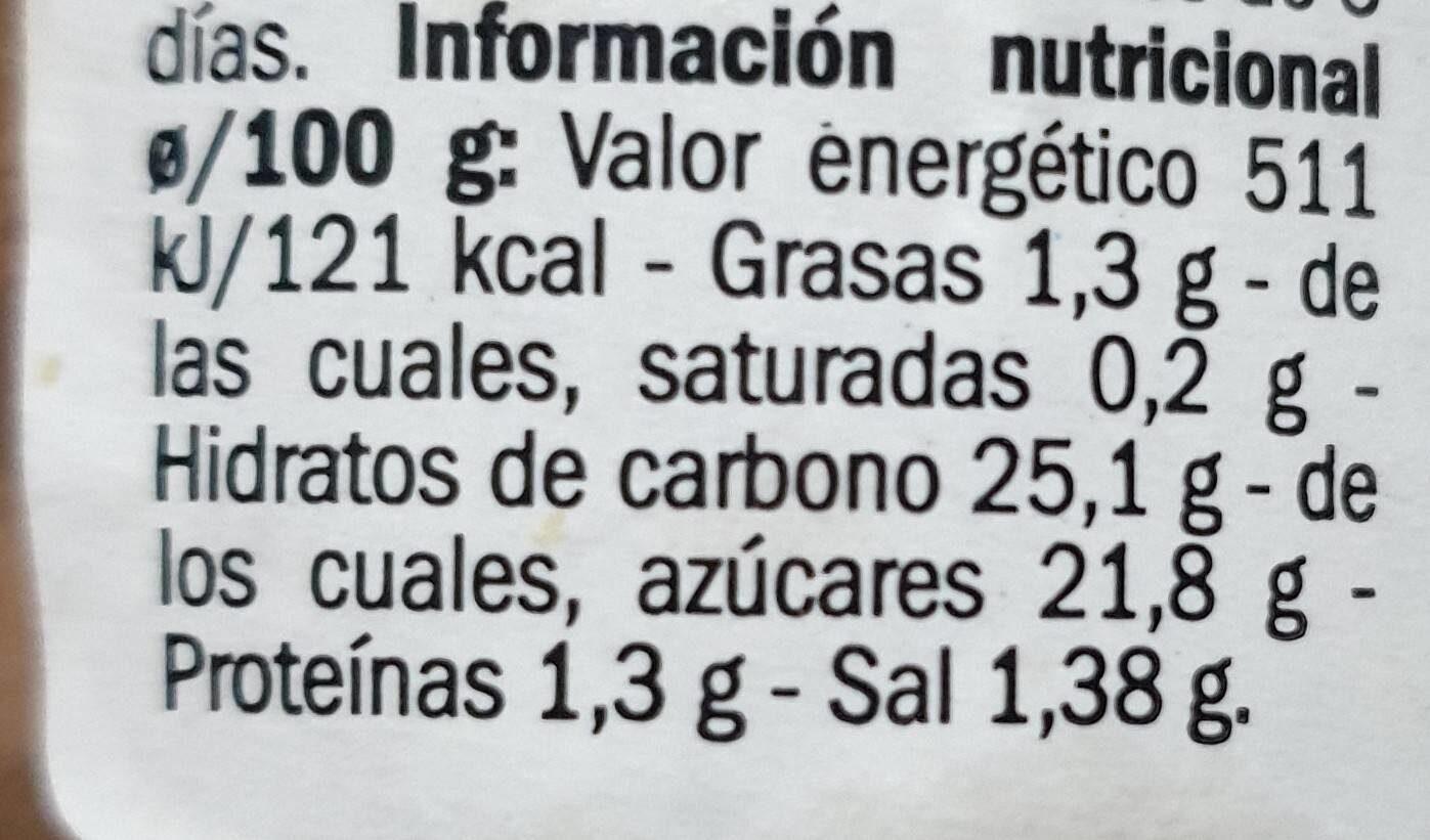 Pimiento piquillo caramelizado - Nutrition facts