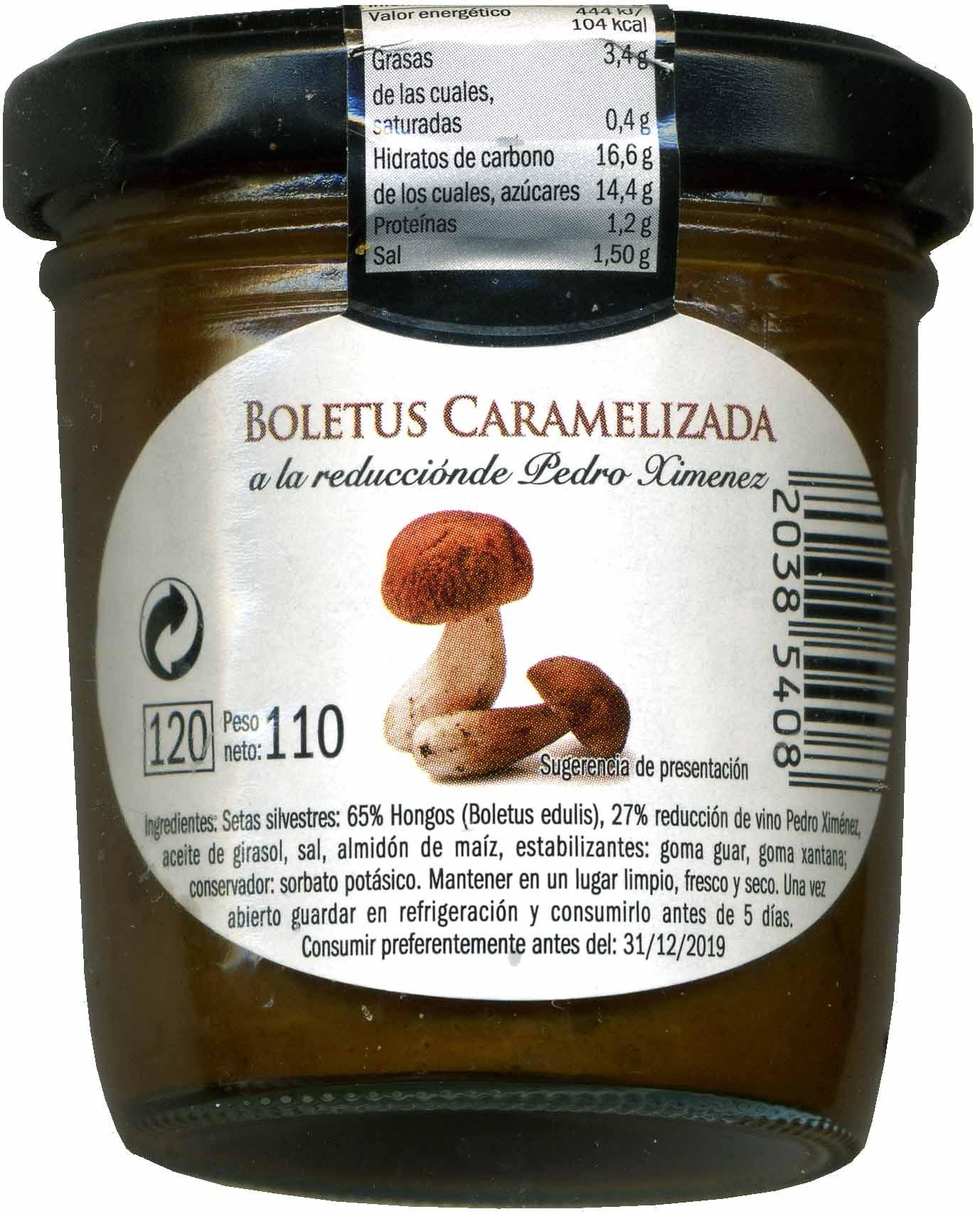 Boletus caramelizado - Producte