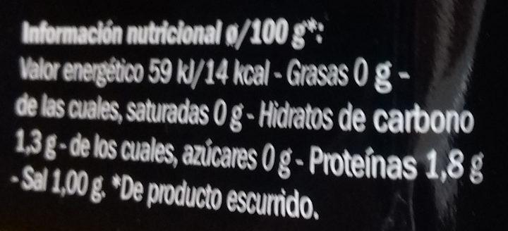 Setas shiitake - Informació nutricional