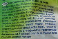 Emotionali Multi Fruit Lollies - Ingrediënten - fr