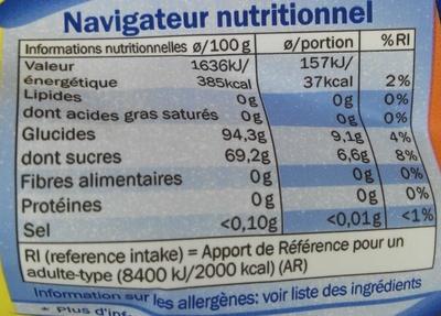 Sucettes Cola-Citron - Valori nutrizionali - fr