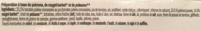Mise en bouche effiloché de rouget - Ingrédients - fr