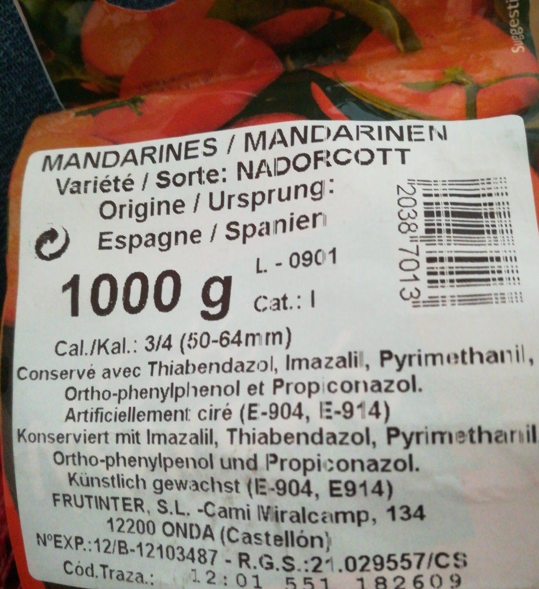 Mandarines - Ingredients - fr