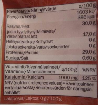Kotimainen Punaleima - Ravintosisältö - fi