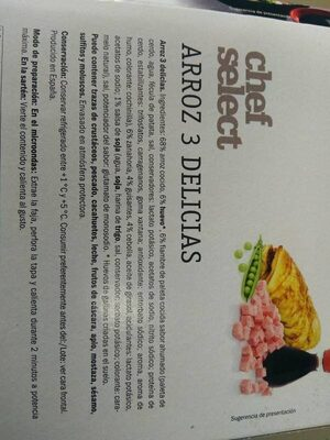 Arroz 3 delicias - Ingredientes