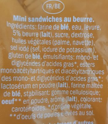 Mini Botero Sandwiches aux Beurre - Ingredienti - fr