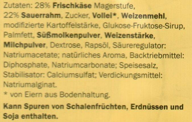 Emsländer Käsekuchen - Ingrédients - de