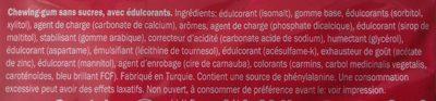 Jet gum - Ingrédients - fr
