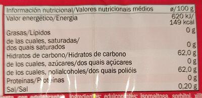 Jet gum - Informations nutritionnelles - fr