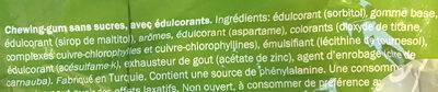 Jet gum chlorophyle - Ingrédients - fr