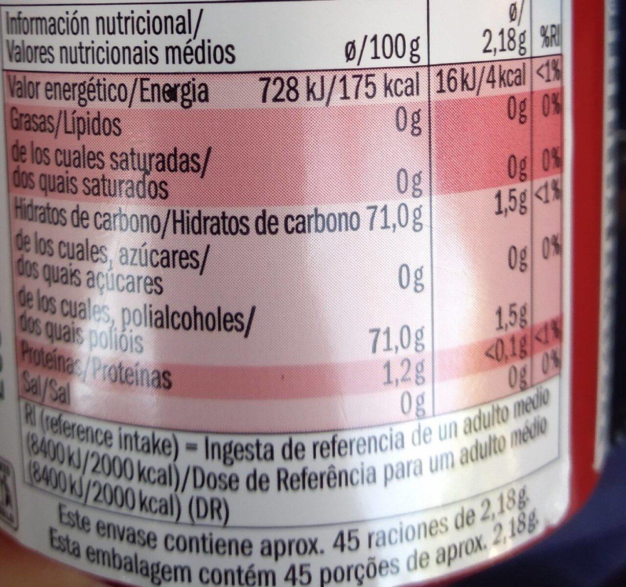 Liquids - fraise / citron vert - Informations nutritionnelles - fr