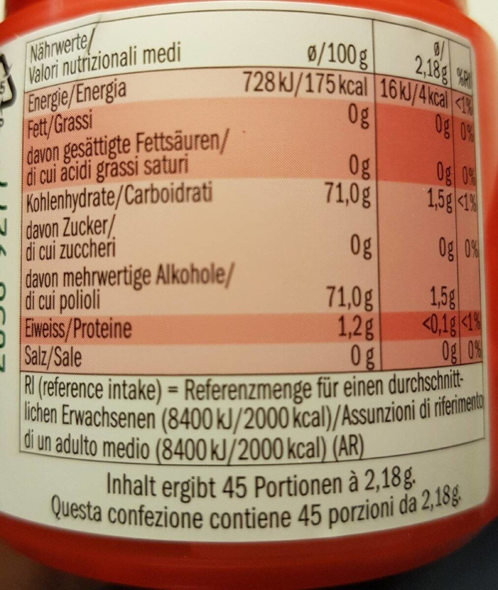 Liquids - fraise / citron vert - Nutrition facts - fr
