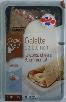Toque du chef - Galette de blé noir, lardons, chèvre et emmental - Product