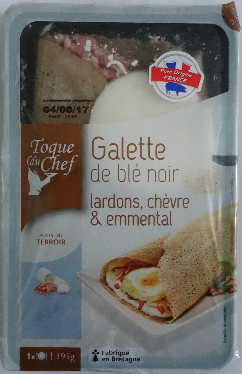 Toque du chef - Galette de blé noir, lardons, chèvre et emmental - Produit