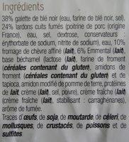 Toque du chef - Galette de blé noir, lardons, chèvre et emmental - Ingrédients