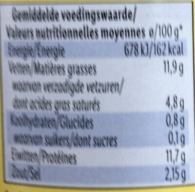 Saucisses cocktail - Nutrition facts - fr