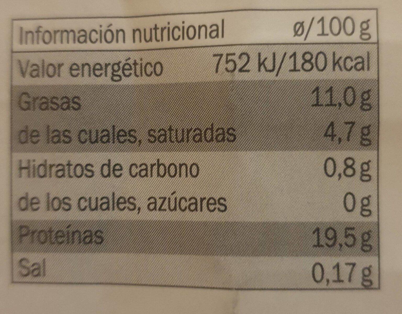 Pepino de Almeria - Información nutricional - es