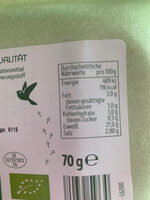 Naturgut Bio Kochschinken - Nutrition facts - de