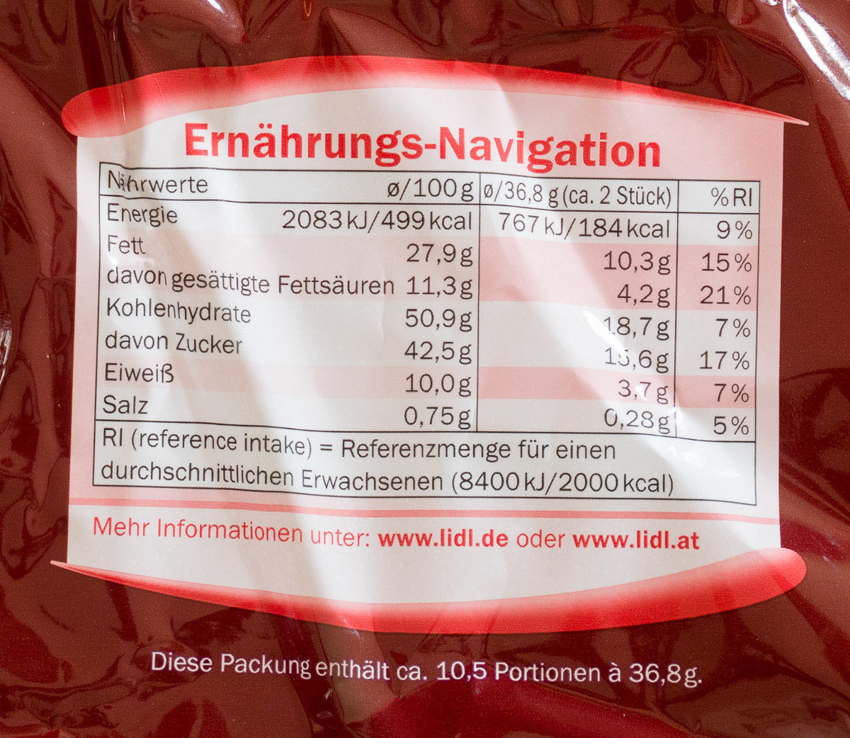 Peanut & Choco Minis - Nutrition facts