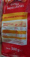 Madeleines - Informations nutritionnelles - fr