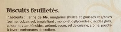 Palmiers feuilletés croustillants - Ingrédients