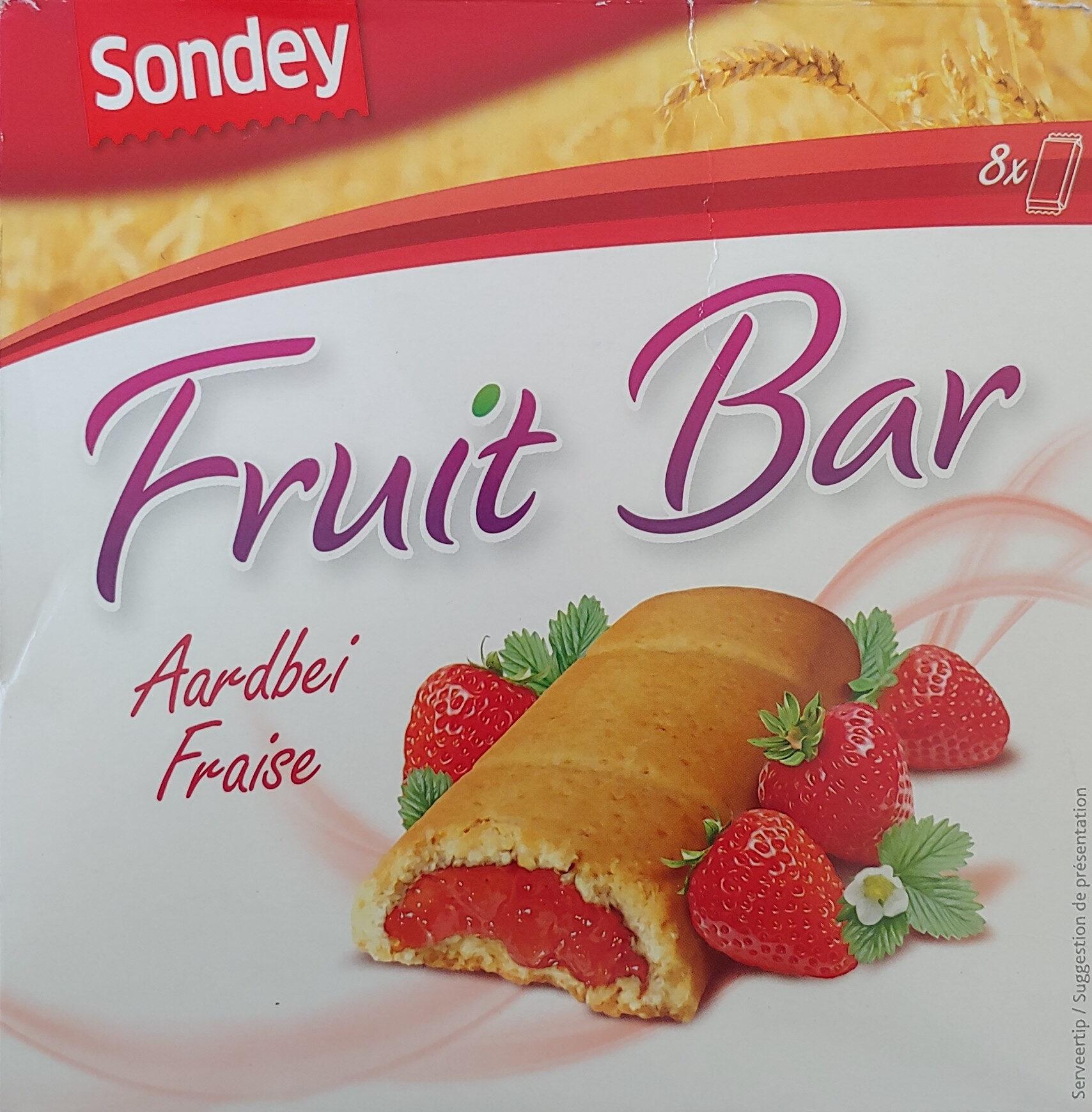 Sondey fruit bar fraise aardbei - Product