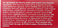 Sondey fruit bar fraise aardbei - Ingredients - fr