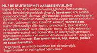 Sondey fruit bar fraise aardbei - Ingrediënten - nl
