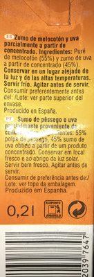 Solevita Melocotón y uva - Ingredientes