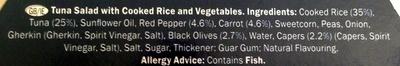 Tuna salad with rice - Ingredients - en