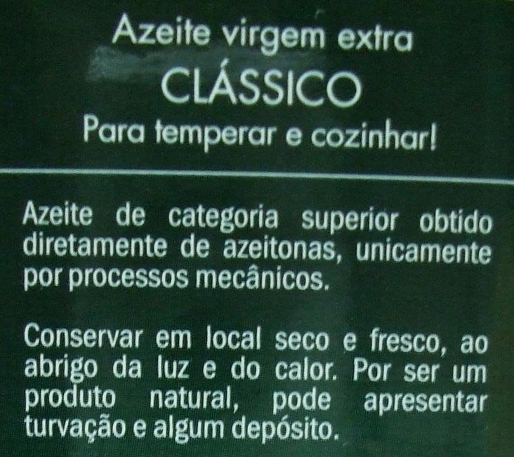 Chaparro Clássico - Ingredients