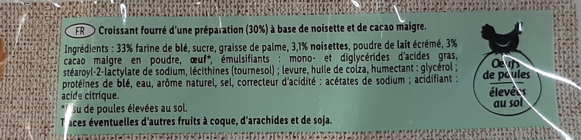 Croissants cacao Noisette - Ingredients - fr