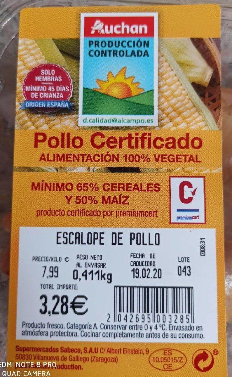 Pollo certificado - Product - es