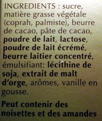 LINDOR assorti - Ingredients
