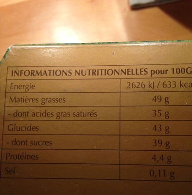 LINDOR assorti - Nutrition facts
