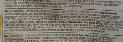 Hema Choco peanuts - Ingrédients