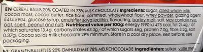 Choco crunchies - Voedigswaarden