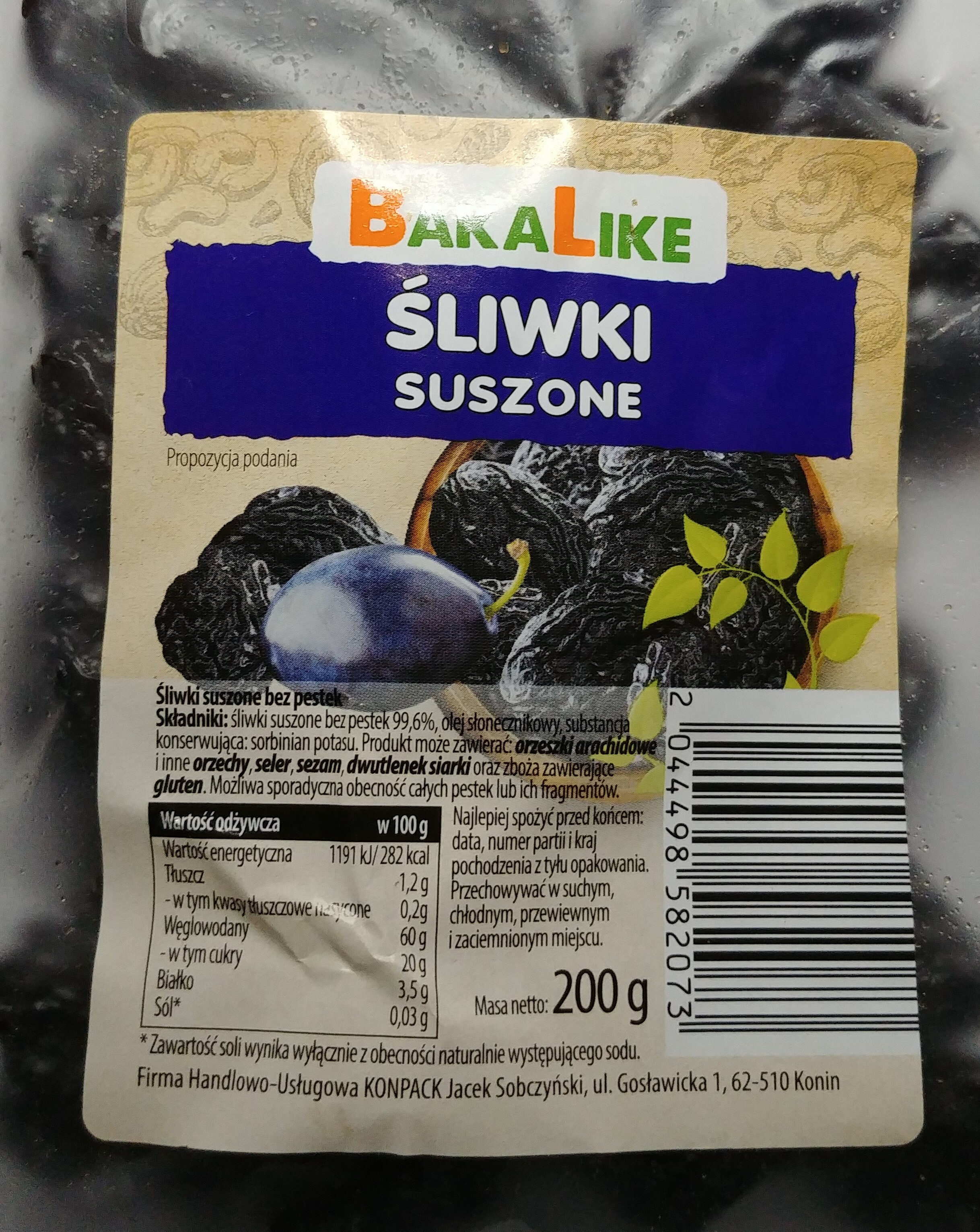Śliwki suszone bez pestek - Produkt