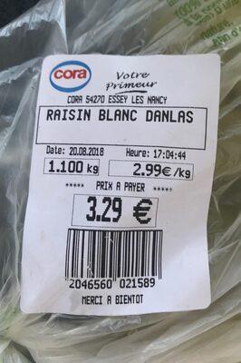 Raisin blanc - Ingrédients - fr