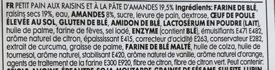 Mini pain aux fruits - Ingrédients - fr