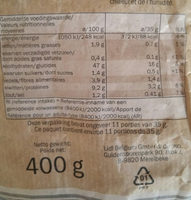 Pain campagne gris - Nutrition facts