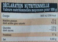 10 ultra moelleux au bœuf - Informations nutritionnelles - fr
