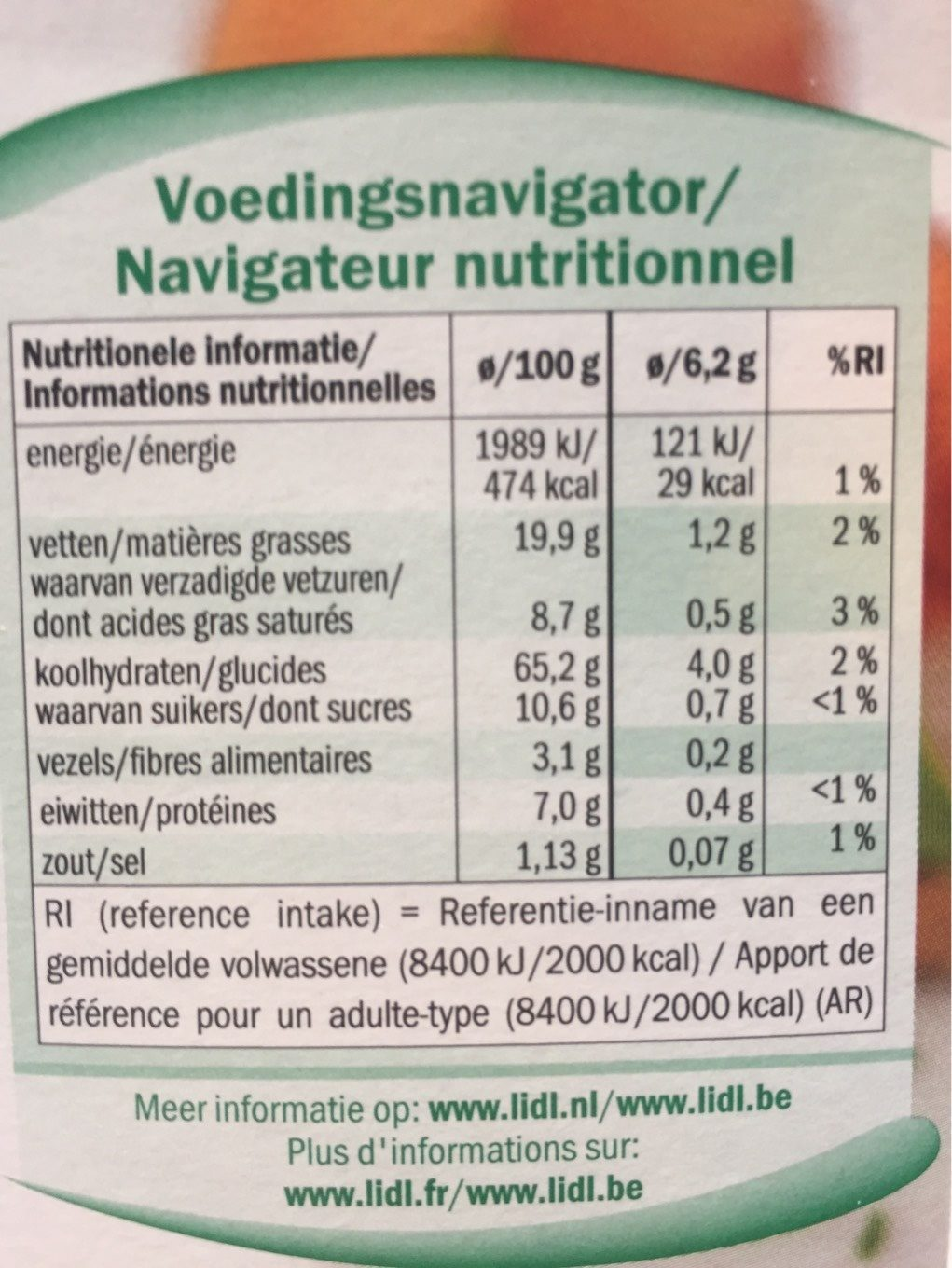 Party toast - Informations nutritionnelles