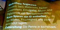 Gluten free noodles - penne - Zutaten - de