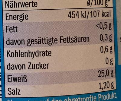 Thunfisch - Información nutricional - de