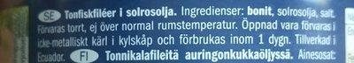 Thunfish-filets - Inhaltsstoffe